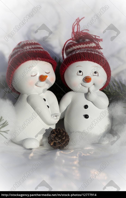 weihnachten schneemaenner winter advent schnee muetze. Black Bedroom Furniture Sets. Home Design Ideas
