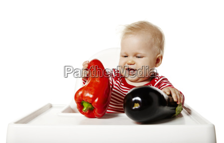 watches baby vegetables