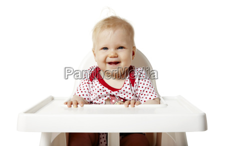 baby waiting for lunch