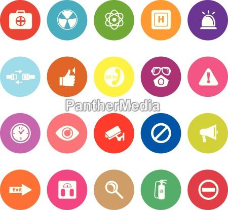 allgemeine gesundheits flache ikonen auf weissem