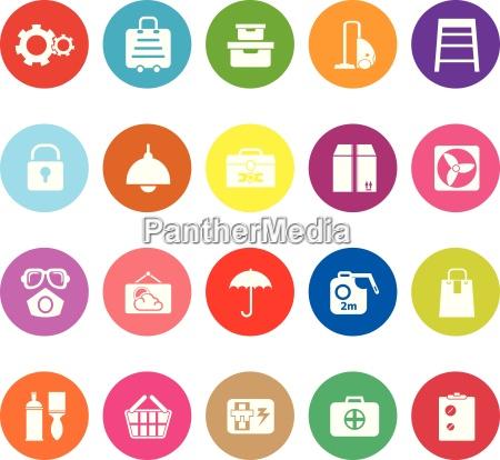 home storage flache ikonen auf weissem