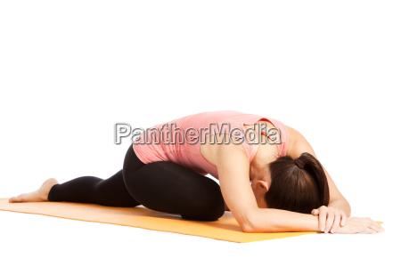 yogauebung auf der matte eka