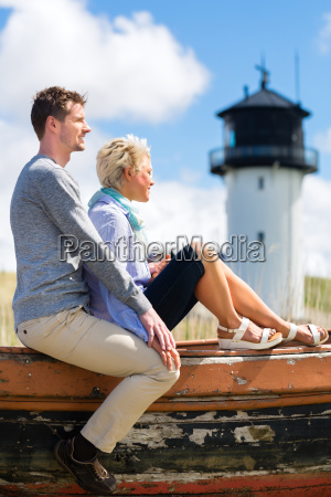 couple enjoying holiday in the beach