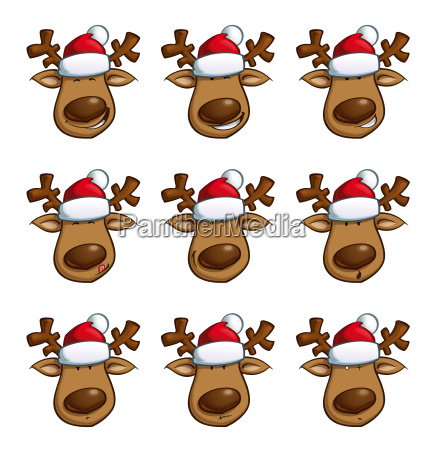 christmas elks expressions