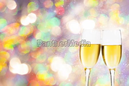 champagner glaeser gegen urlaub lichter