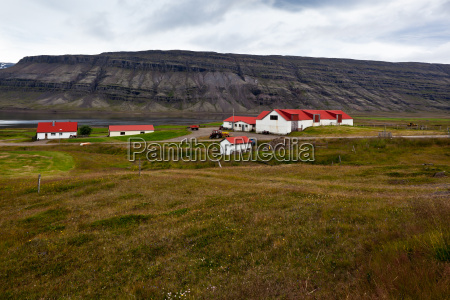 icelandic nature landscape with mountains and