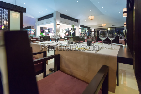 elegante interieur des leeren asiatisches restaurant