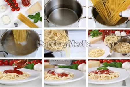 cook spaghetti pasta pasta with tomato