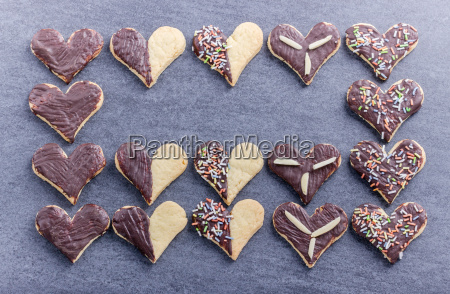 cookies heart heart shape biscuits bake