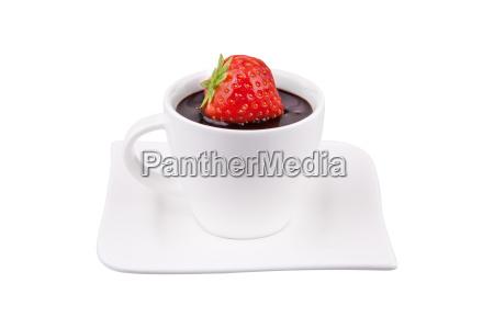 schokolade mit erdbeere