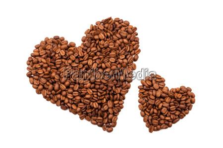 kaffeebohnen herzen