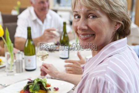 close up portrait of happy senior