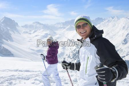 portrait of smiling senior couple wearing