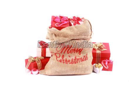 rote und weisse themen sankt geschenk