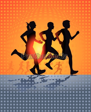 drei laufende