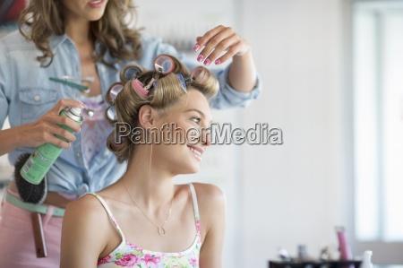 peluqueria pulverizacion laca para el cabello
