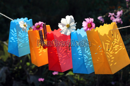 garden party celebration paper lanterns