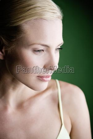 frau, profil, lachen, lacht, lachend, belaecheln - 12901344