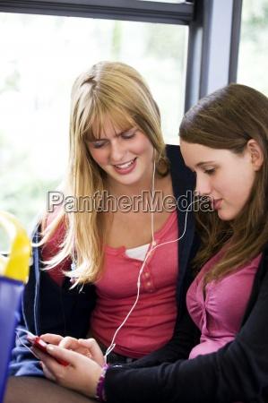 woman telephone phone laugh laughs laughing