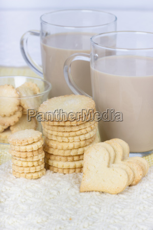 cookies biscuits bake coffee glass milk