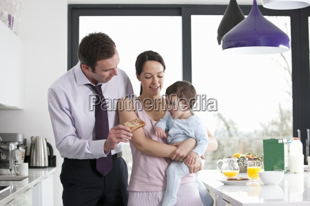 a couple and their baby son