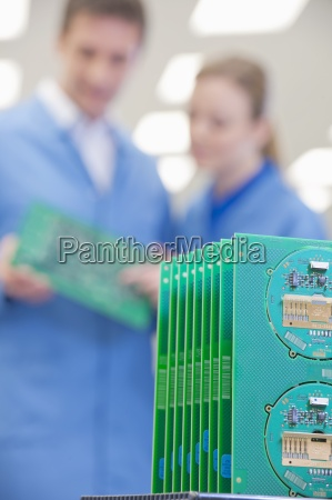 close up of printed circuit boards