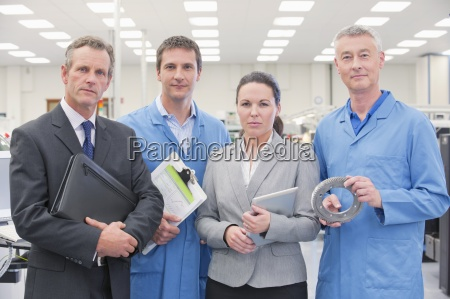 portrait of confident business people and