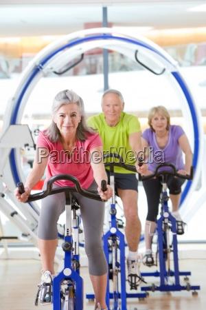 portrait of confident seniors on exercise