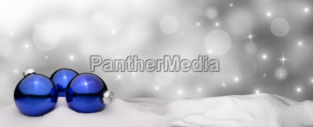 christmas background christbaumkugel blau