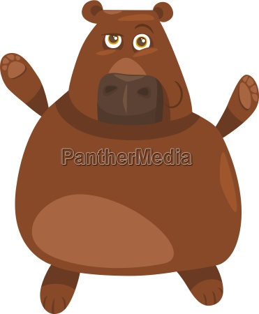 funny bear cartoon illustration