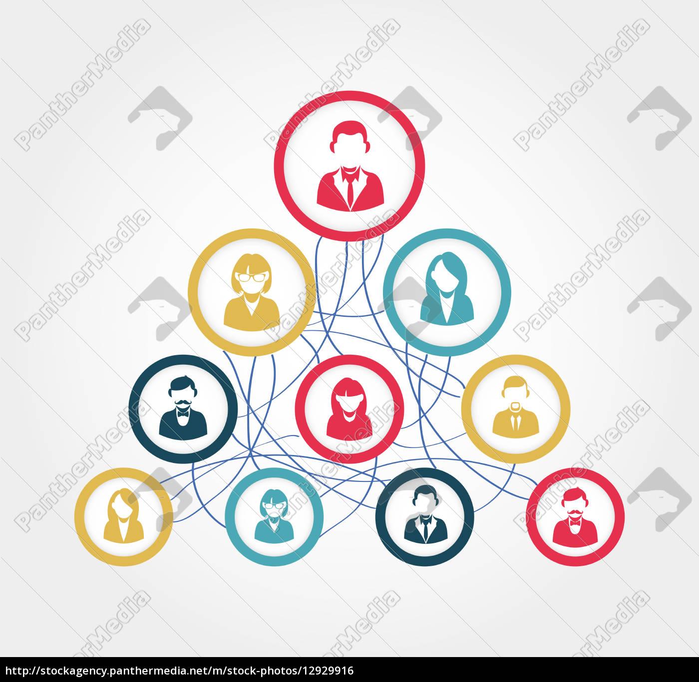 soziale, netzwerk-diagramm-darstellung - 12929916