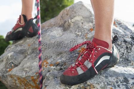 nahles von weiblichen bergsteigerschuhen