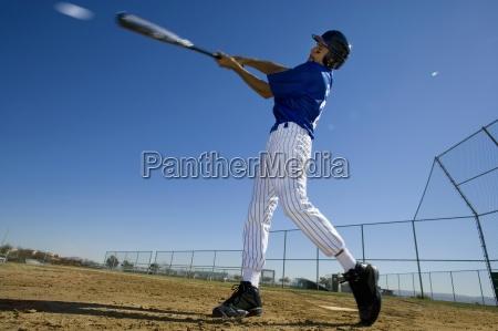 baseball teig in der blauen uniform