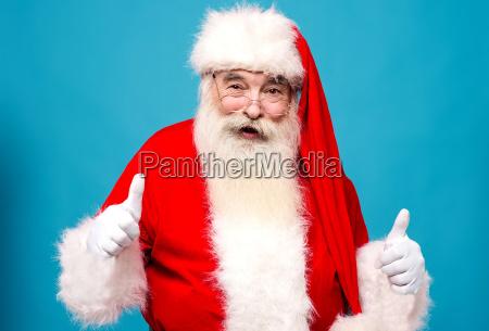 happy santa claus gesturing thumbsup