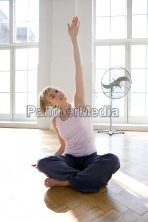 woman doing yoga portrait