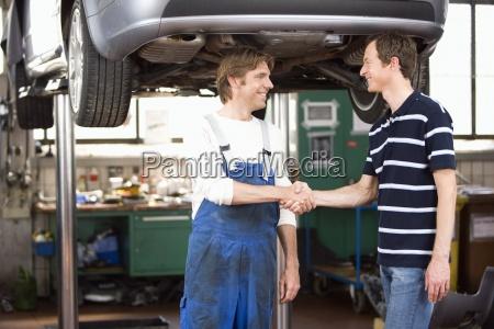 mechanic festsetzung kunden auto
