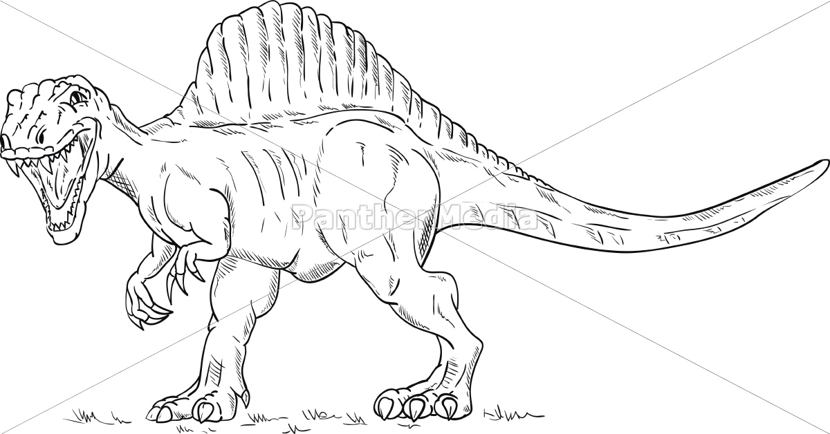 Lizenzfreie Vektorgrafik 12945360 Dinosaurier