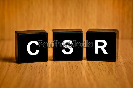 csr oder corporate social responsibility wort