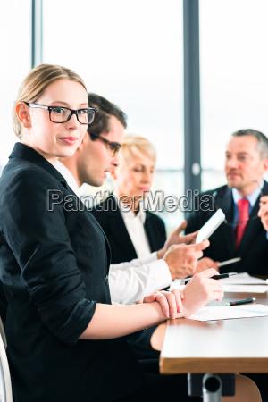 business meeting oder besprechung in