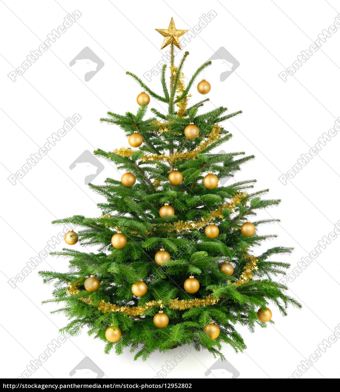 Rot gold geschmuckter weihnachtsbaum