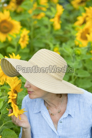 close up of woman in sun