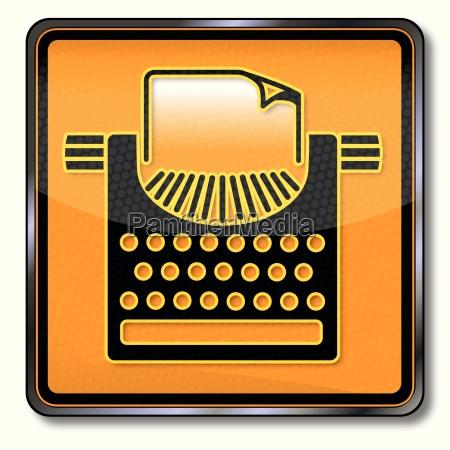 schild mit schreibmaschine und pressefreiheit