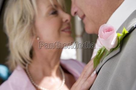 senior sposa e lo sposo si