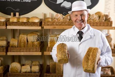 portrait of baker in white uniform