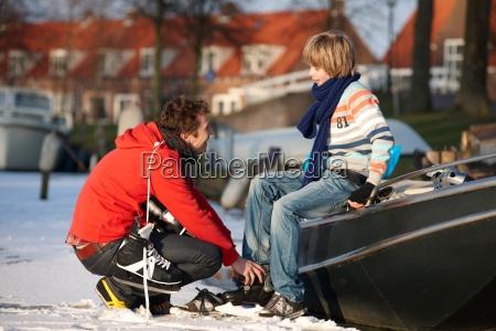 sport winter sohn horizontal outdoor freiluft
