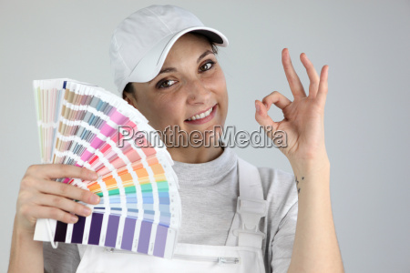 painter giving the a ok sign