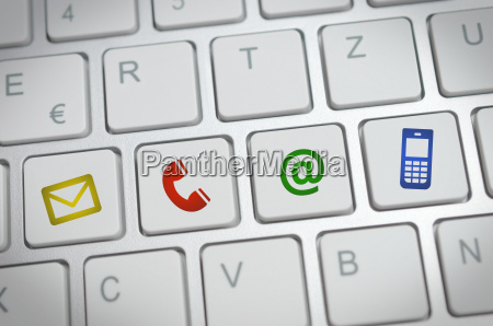 website und internet seite kontakt konzept