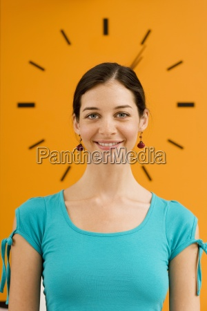 young woman standing in front of