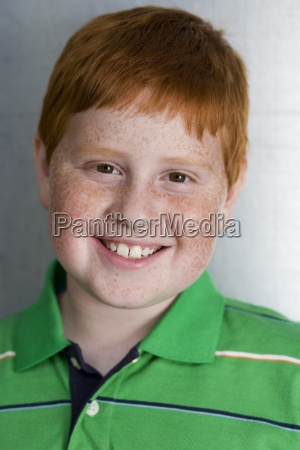 boy 9 11 with freckles and