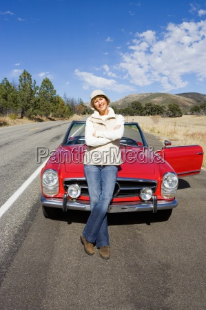 mature woman standing in front of